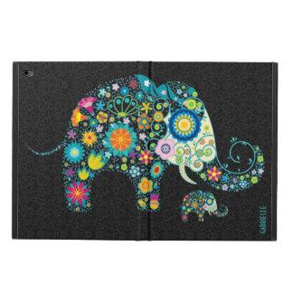 Retro Floral Elephant Black Damasks Monogram 2 Powis iPad Air 2 Case