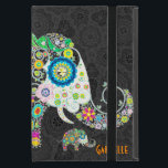 """Retro Floral Elephant Design Case For iPad Mini<br><div class=""""desc"""">Retro flowers in a shape of an elephant. Decorated with images of diamond studs.</div>"""