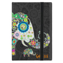 Retro Floral Elephant Design Case For iPad Mini