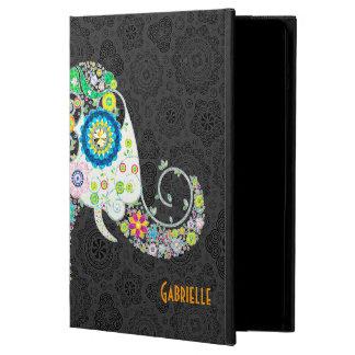 Retro Floral Elephant Design iPad Air Covers