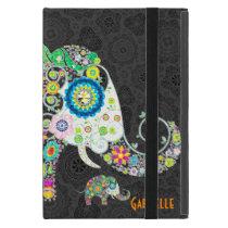Retro Floral Elephant Design iPad Mini Covers