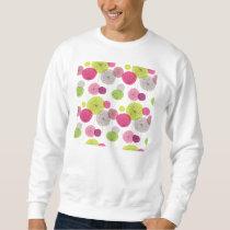 retro,floral,flower,70's,pattern,girly,fun,happy,c sweatshirt