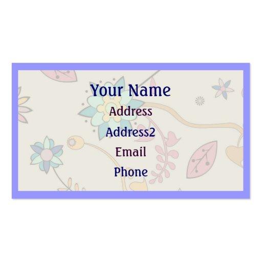 Retro Floral Flower Business Cards
