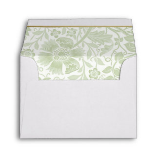 Retro Floral in Light Green - Customized Envelope