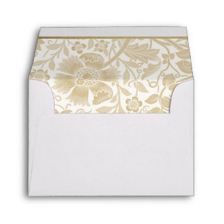 Retro Floral in Off-White - Customized Envelope