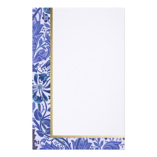 Retro Floral in Purple - Customized Stationery