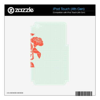 Retro Floral iPod Touch 4G Decal