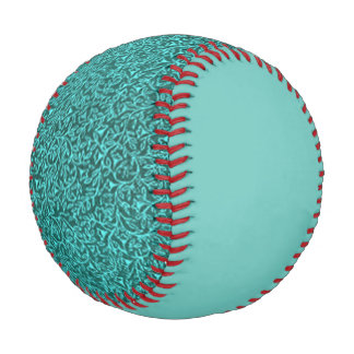 Retro Floral Jade Teal Turquoise Baseball
