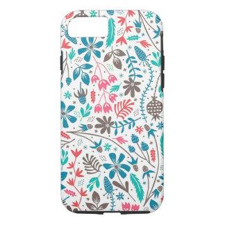 Retro Floral Pattern Case-Mate Tough iPhone 7 Case