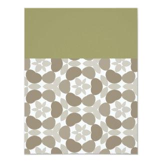 retro floral pattern 4.25x5.5 paper invitation card