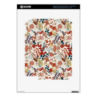 Retro floral pattern iPad 3 decals
