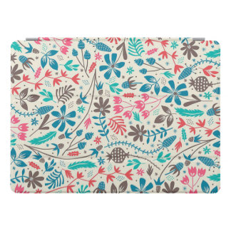 Retro Floral Pattern iPad Pro Cover
