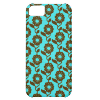 Retro floral pattern - mosaic iPhone 5C case