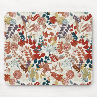 Retro floral pattern mouse pad