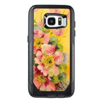 Retro Floral Pattern OtterBox Samsung Galaxy S7 Edge Case