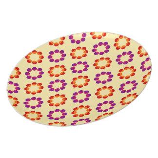 Retro Floral Pattern Plates