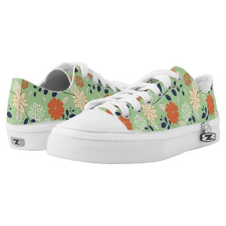 Retro Floral Pattern Printed Shoes