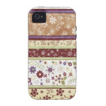 Retro Floral Pattern Vibe iPhone 4 Cover