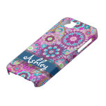 Retro Floral Pattern with Name iPhone SE/5/5s Case