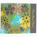 Retro Floral Personalized Avery Binder~ 2 inch Binder