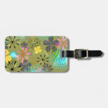 Retro Floral Personalized Luggage Tag