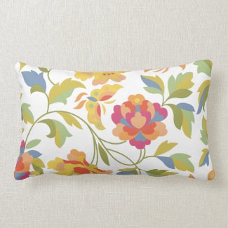 retro floral pillow