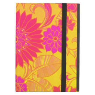 Retro Floral Pink and Yellow iPad Air Case
