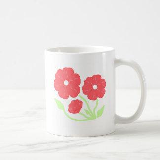 Retro Floral Pink Mugs