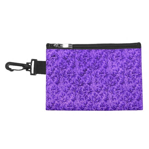 Retro Floral Purple Bagettes Bag Clip-On Accessory Accessories Bag