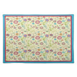 Retro Floral ~ Red & Turquoise American MoJo Place Place Mat