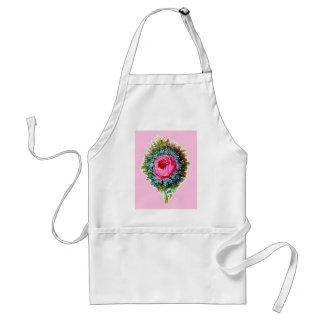 Retro Floral Rose Bouquet Pink Aprons