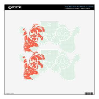 Retro Floral PS3 Controller Skin