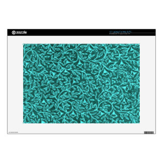 """Retro Floral Teal Green Decal For 15"""" Laptop"""