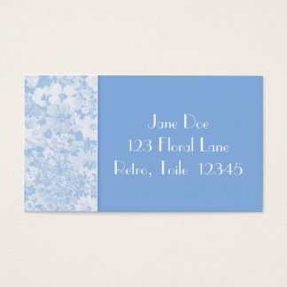 Retro Floral Toile Business Card