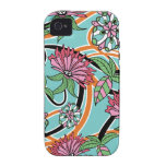 Retro Floral Vibe iPhone 4 Case
