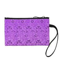Retro Floral Vintage Flowers Amethyst Purple Grape Change Purse