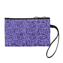 Retro Floral Vintage Swirls Lavender Purple Coin Purse