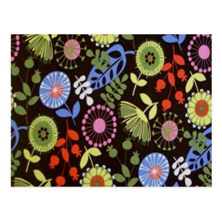 Retro Florals Postcard