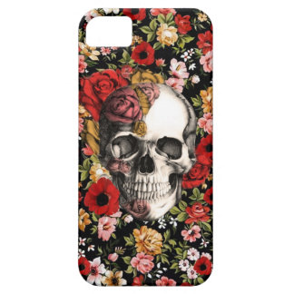 Retro florals with skull pattern iPhone SE/5/5s case