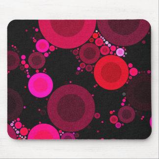 Retro Florescent Polk-Dot Pattern Mouse Pad