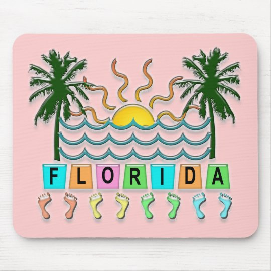 Retro Florida Mouse Pad
