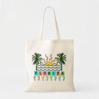 Retro Florida Tote Bags