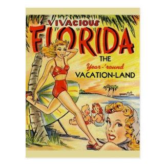 Retro Florida Vacation Postcard