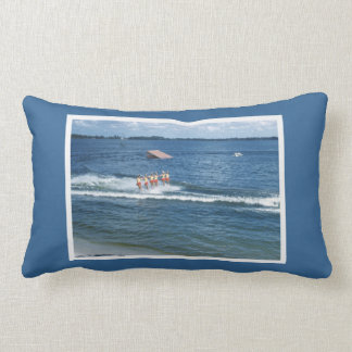 Retro Florida Water Ski Women Water Skiing Show Pillow