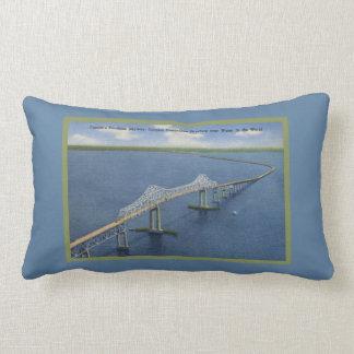 Retro Florida's Beautiful Sunshine Skyway Bridge Throw Pillow
