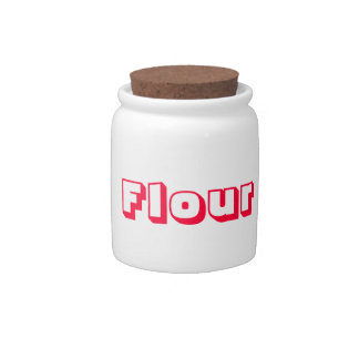 Retro Flour Jar Candy Dishes