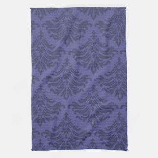 Retro Flourish Blue Violet Kitchen Towels