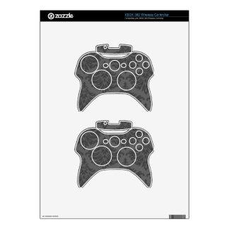 Retro Flourish Charcoal Xbox 360 Controller Skin