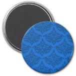 Retro Flourish Endeavor Blue Fridge Magnet