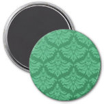 Retro Flourish Green Fridge Magnet